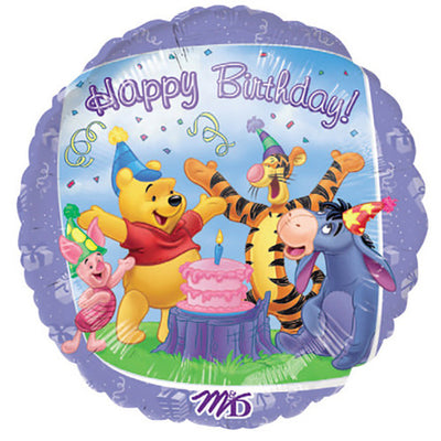 18″ WINNE THE POOH HAPPY BIRTHDAY