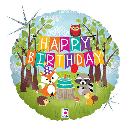 18″ WOODLAND BIRTHDAY PARTY