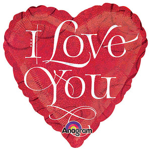 18″ I LOVE YOU CALLIGRAPHY