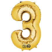 34″ NUMBER 3 - ANAGRAM - GOLD