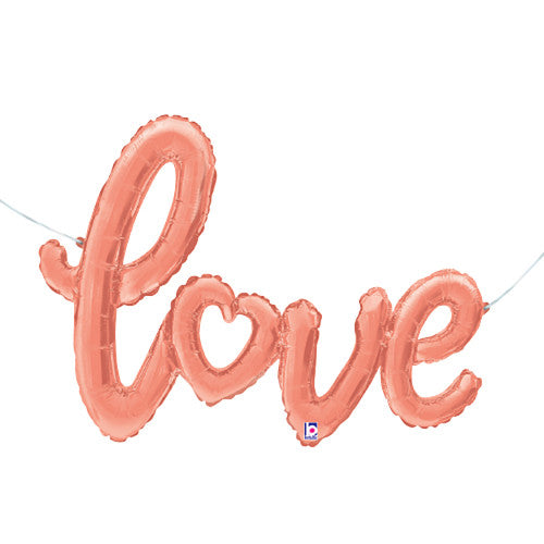 47″ LOVE SCRIPT - ROSE GOLD