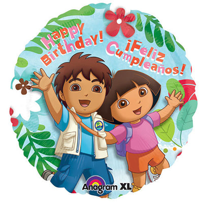 17″ DORA AND DIEGO HAPPY BIRTHDAY