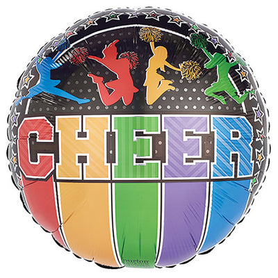 17″ CHEER ON BLACK