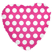 17″ HOT PINK W/ WHITE POLKA DOT