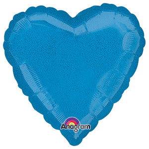18″ HEART - DAZZLER BLUE