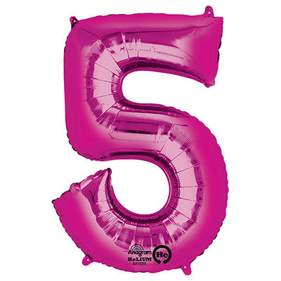 34″ NUMBER 5 - ANAGRAM - PINK