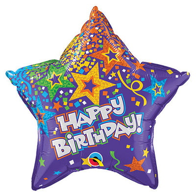 20″ BIRTHDAY STAR - PURPLE