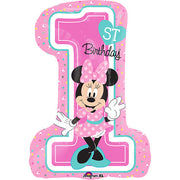 28″ MINNIE 1ST BIRTHDAY GIRL