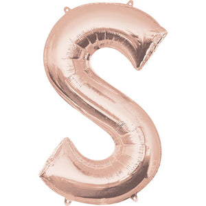 34″ LETTER S - ANAGRAM - ROSE GOLD