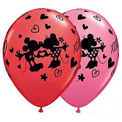 11″ MICKEY & MINNIE XOXO (6 PK)