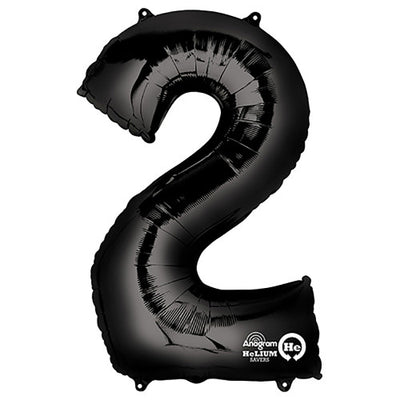 34″ NUMBER 2 - ANAGRAM - BLACK