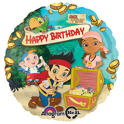 18″ JAKE & THE NEVERLAND PIRATES HAPPY BIRTHDAY