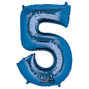 34″ NUMBER 5 - ANAGRAM - BLUE