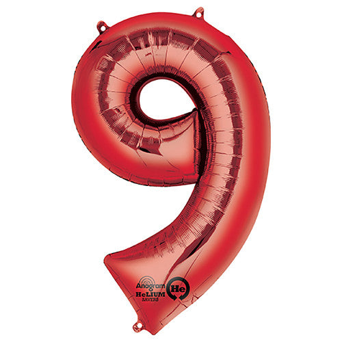 34″ NUMBER 9 - ANAGRAM - RED