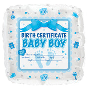 17″ BABY BOY BIRTH CERTIFICATE