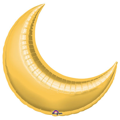 26″ CRESCENT MOON - GOLD (3 PK)