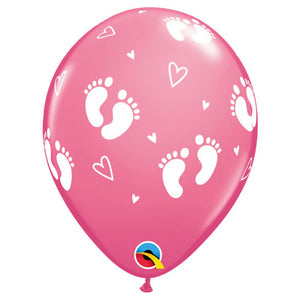 11″ BABY FOOTPRINTS - ROSE (6 PK)