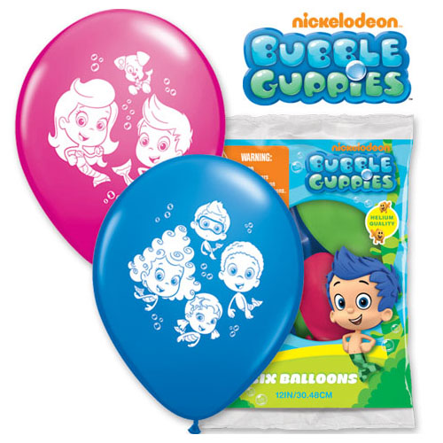 "12"" BUBBLE GUPPIES (6 PK)"