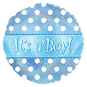 17″ IT'S A BOY DOTS DAZZELOONS