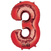 34″ NUMBER 3 - ANAGRAM - RED