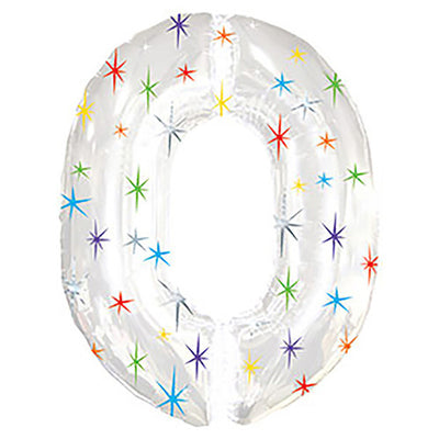38″ NUMBER 0 - MULITI-COLORED SPARKLE