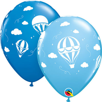 11″ HOT AIR BALLOONS - DARK BLUE & PALE BLUE