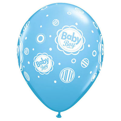 11″ BABY BOY DOTS - PALE BLUE