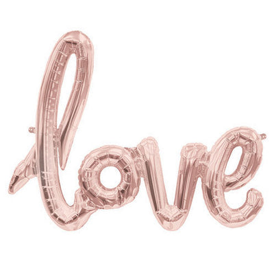 40″ LOVE SCRIPT - ROSE GOLD  (AIRFILL ONLY)