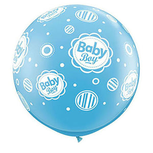 36″ BABY BOY DOTS-A-ROUND - PALE BLUE