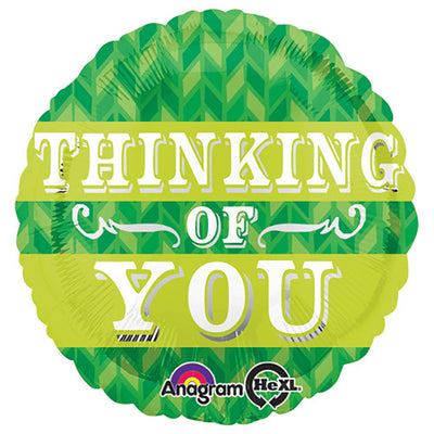 18″ GREEN CHEVRON THINKING OF YOU