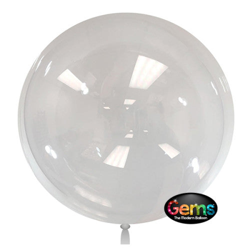 24″ GEMS BALLOON - CLEAR (3 PK)