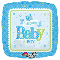 28″ WELCOME BABY BOY TRAIN