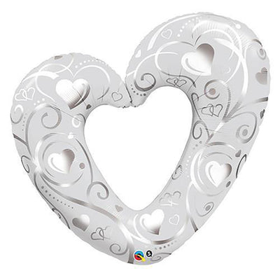 42″ HEARTS & FILIGREE - PEARL WHITE