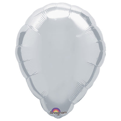 18″ BALLOON SHAPE - METALLIC SILVER
