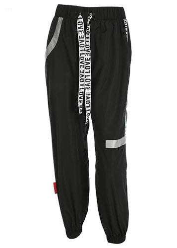 Black Pantalon Cargo Sweat Pants