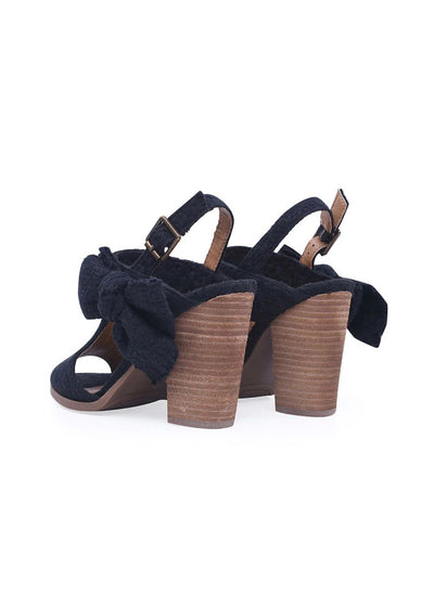 Block Chunky Heel Lace Buckle Strap Sandals