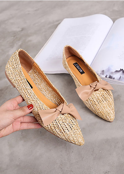 Bow Knot Pointed Toe Flat Shoes