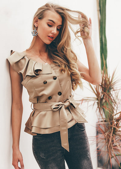 Anya Elegant Ruffle Party Top