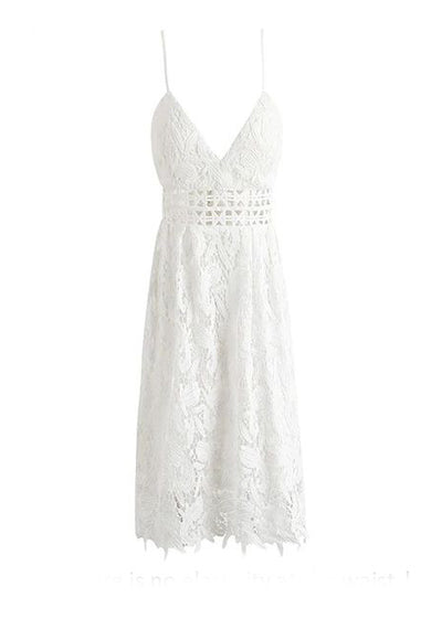 Madilyn Deep V-padded Backless Lace Dress