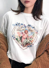 Angel Graphic Loose Knitted T-Shirt