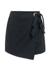 Brynleigh Zipper Wrap Short Skirt