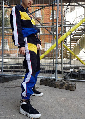 Tracksuit Bomber Jacket And Patchwork Sweatpant