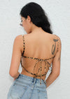 Leopard Backless Bandage Tank Top