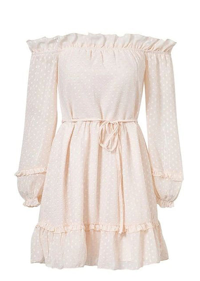 Kathryn Off Shoulder  Lace Dress