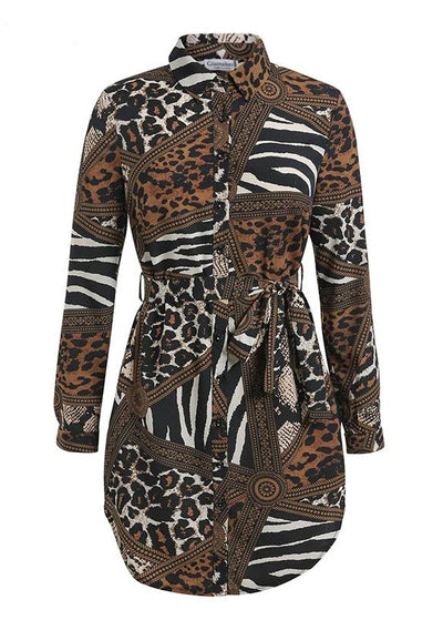 Leopard Printed Bodycon Short Dress
