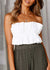 Addie Strapless Ruffle Lace Up Top