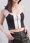 White In Black Punk Strapless Tank Top