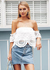 Jacqueline Hollow Out Off Shoulder Top