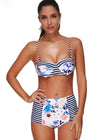 Victoria Striped Print Bikini Set