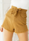 Malak Bow Tassel Cotton Short Skirt